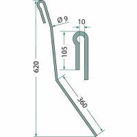 Zavlačovací pero pro přesné secí brány II vhodné pro Amazone 1. levé provedení vnější