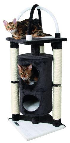 Odpočívadlo pro kočky ONYX černo/bílé 38 x 107 cm