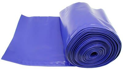 Ochranná plachta na lišty řezaček modrá