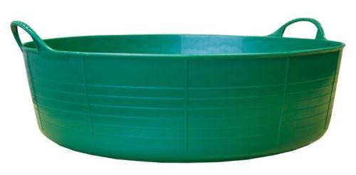 Tubtrug zelené plastové pružné malé mělké vědro 15 l