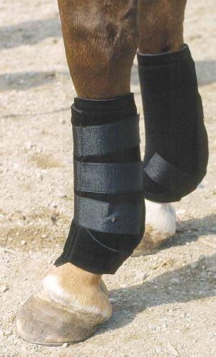 Neoprénové kamaše pro koně zadní černé velikost M