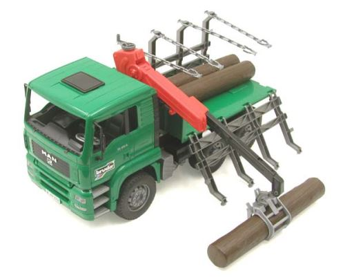 Bruder - nákladní auto MAN na dřevo s nakládacím ramenem