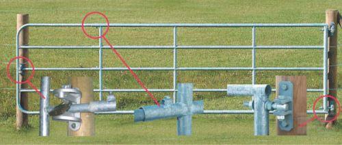 Kovová pastvinová brána délkově stavitelná 1 až 1,7 m