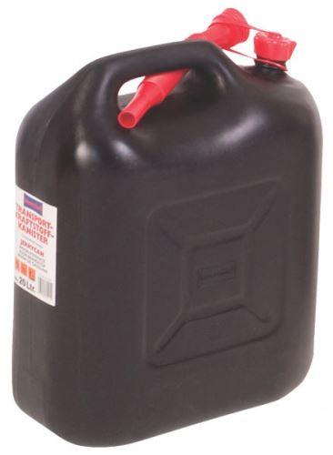 Plastový kanystr na palivo černý 20 l