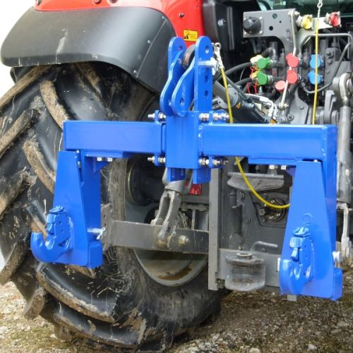 Tříbodová váha Agreto 6000 kg pro traktory kat.2 s rychloupínacími háky Walterscheid