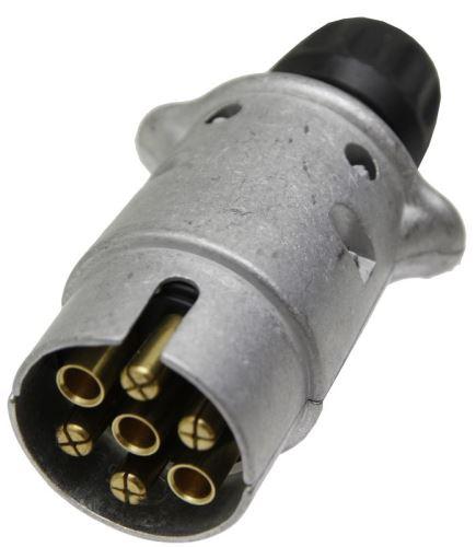 Konektor 7-pólový 12V z lehkého kovu s plochými zástrčkami