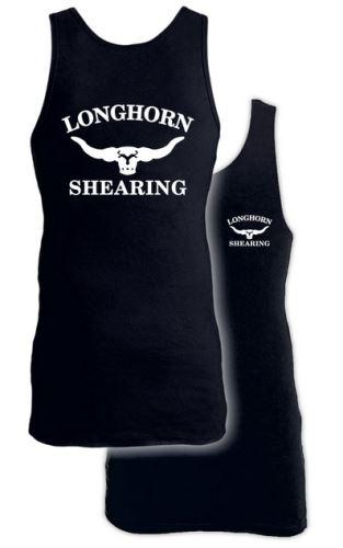 Prodloužené bavlněné tílko Longhorn