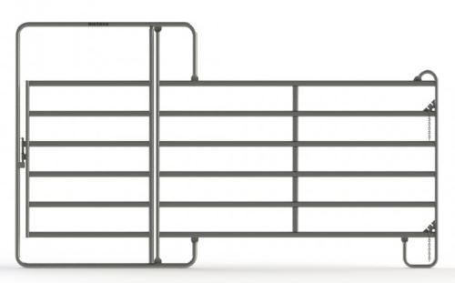 Ohradní panely Texas s dveřmi různých velikostí pro koně a skot