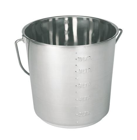 Nerezový kbelík 12,3 l se stupnicí