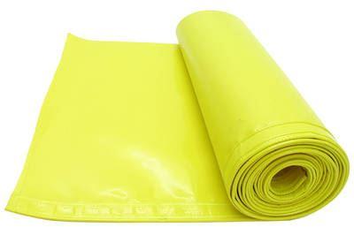 Ochranná plachta na lišty řezaček žlutá