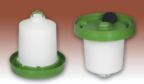 Standardní nízká miska pro kloboukové napáječky pro drůbež Gaun bez klobouku