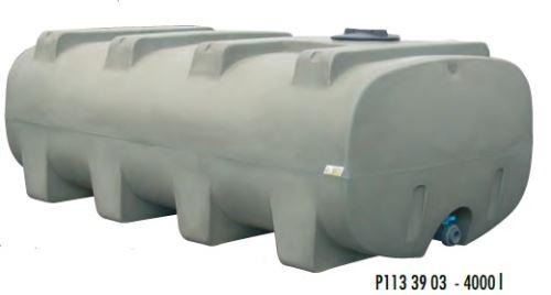 Cisterna na vodu plastová stohovatelná La Gée Monobloc 4000 l