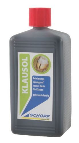 Čistící roztok na paznehty na kyselé bázi KLAUSOL 250 ml