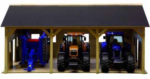 Kids Globe hala pro 3 traktory v měřítku 1 : 16