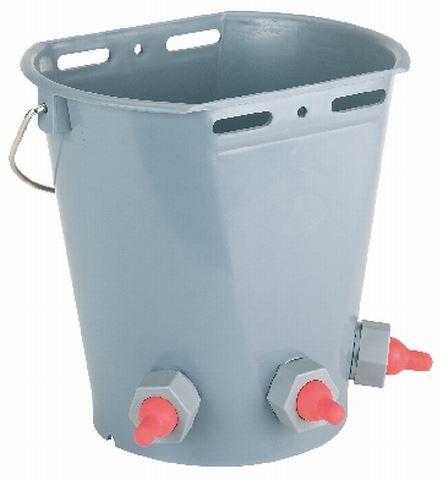 Napájecí kbelík 8l 3 dudlíky pro jehňata a kůzlata