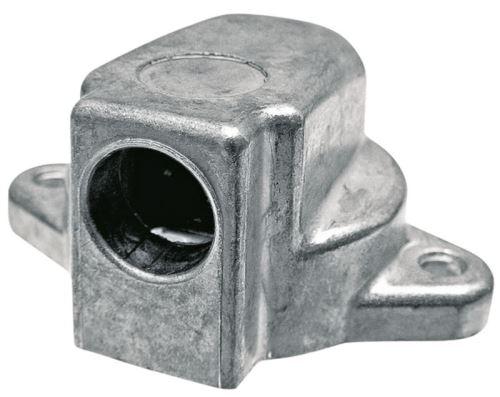 Zásuvka 2-pólová 12V z lehkého kovu