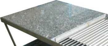 Grilovací kámen lávový, grilovací deska kamenná 500 x 500 x 30 mm