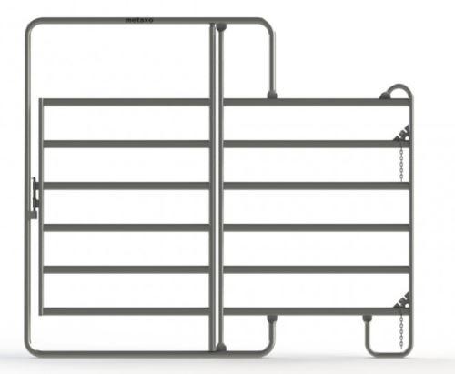 Ohradní panel Texas s dveřmi 1,8 x 2,1 m pro koně a skot