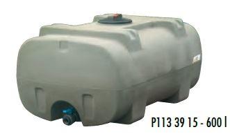 Cisterna na vodu plastová stohovatelná La Gée Monobloc 600 l