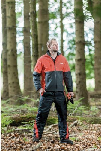 Lesnická softshellová bunda antracit/světle červená