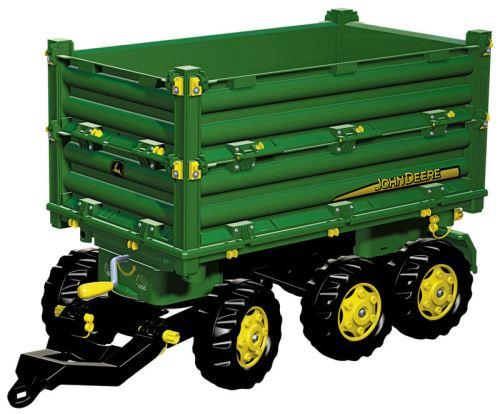 Rolly Toys - třístranný sklápěč John Deere za šlapací traktory a nakladače zelený