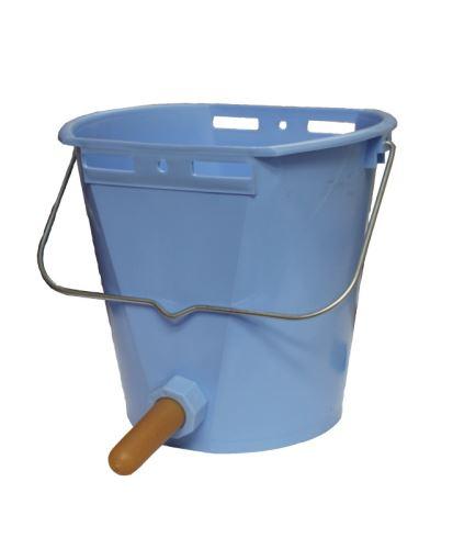 Napájecí vědro TETI Blue pro telata s ventilem a cucákem