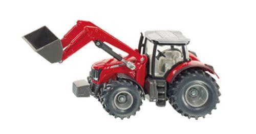 Siku - traktor Massey Ferguson s čelním nakladačem 1:50
