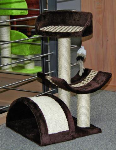 Škrabadlo pro kočky SAFARI s pelíškem a odpočívadlem se škrabadlem