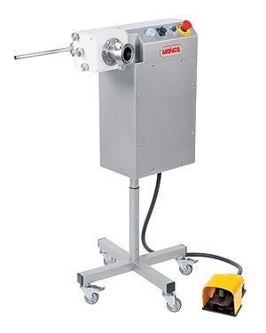 Automatické dávkovací a přetáčecí zařízení na párky a klobásy Mainca PR-250