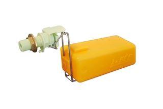Plovákový ventil La GÉE bílý 32 l /min. 5 bar s regulačním šroubem pro nastavení průtoku