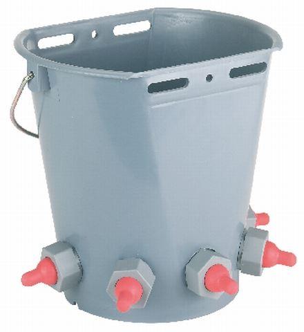 Napájecí kbelík 8l pro jehňata a kůzlata 5 dudlíků