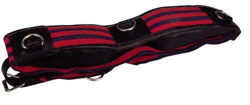 Lonžovací obřišník APOLLO bavlněný s kroužky velikost FULL červenomodrý