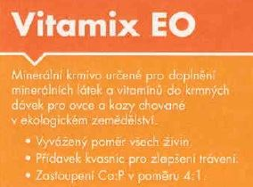 Sypké BIO minerální krmivo VITAMIX EO s kvasnicemi pytel 25 kg pro ovce a kozy