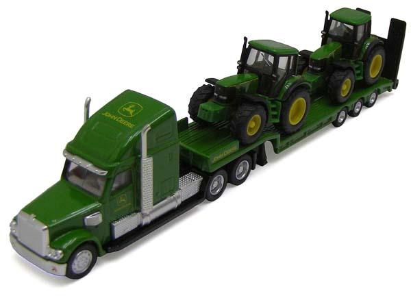 Siku - podvalník se dvěma traktory John Deere 6920 1:87