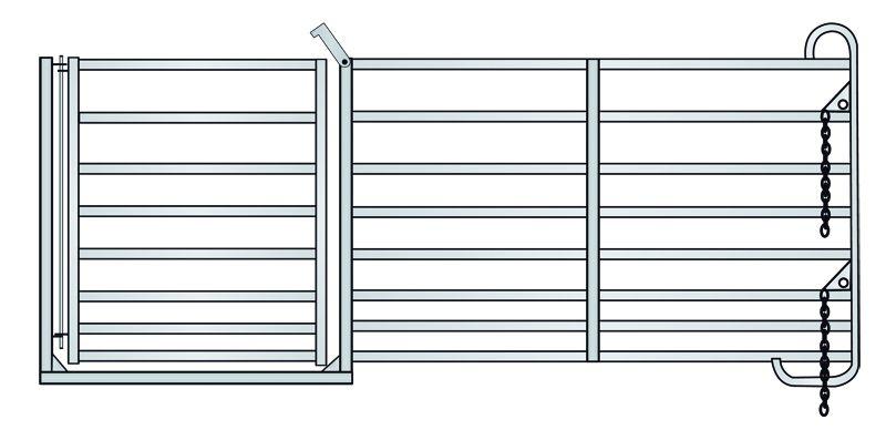 Ovčí ohradní panel s brankou 2,75 m