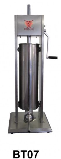 Vertikální plnička klobás BEEKETAL BT07 na 7 l s 5 nerezovými nástavci