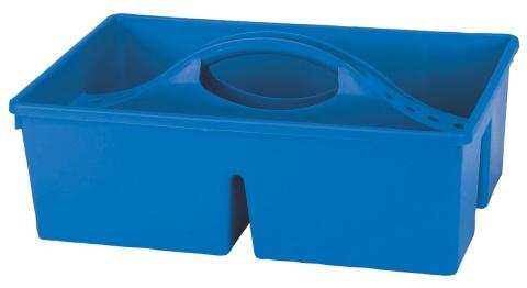 Košík plastový na čištící potřeby pro koně modrý