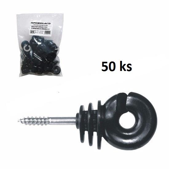 Kruhový izolátor EKOnom s vrutem 5 mm pro elektrický ohradník
