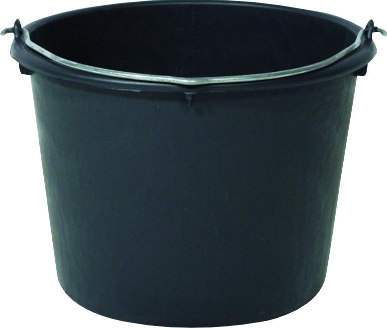 Vědro plastové černé 20 l