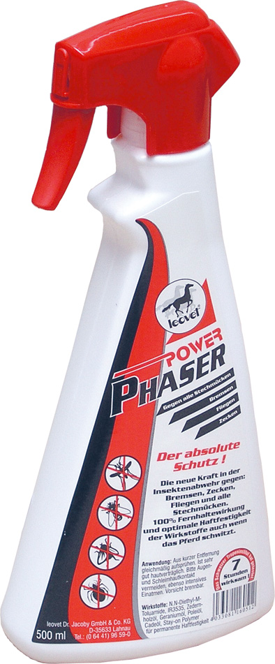 Repelent LEOVET Power Phaser sprej pro koně 500 ml