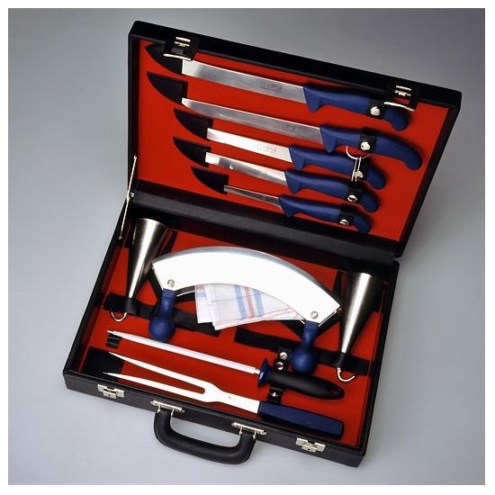 Sada řeznických nožů vhodná pro zabijačky - kufřík velký