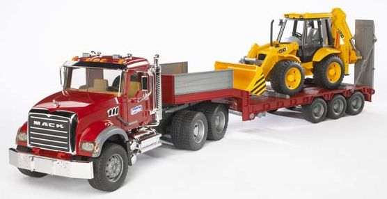 Bruder - nákladní auto Mack Granite s návěsem a buldozerem CAT