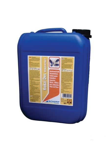 KOKZI DES koncentrát 10 kg dezinfekční prostředek proti endoparazitům, kokcidiím, oocystům