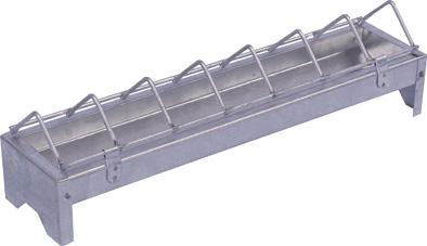 Krmítka pro kuřata a slepice žárově pozinkovaná 7-13 cm šířka 30, 50 a 100 cm délka