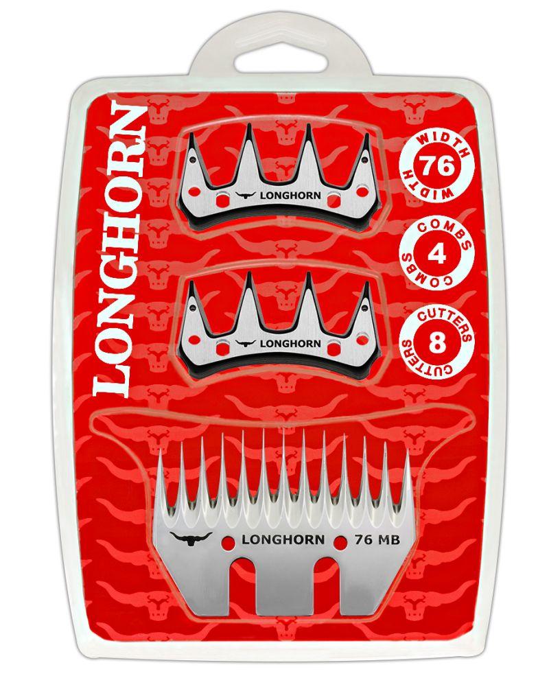 Farmářská sada nožů Longhorn Standard na stříhání ovcí a dobytka 4 spodní + 8 horních nožů
