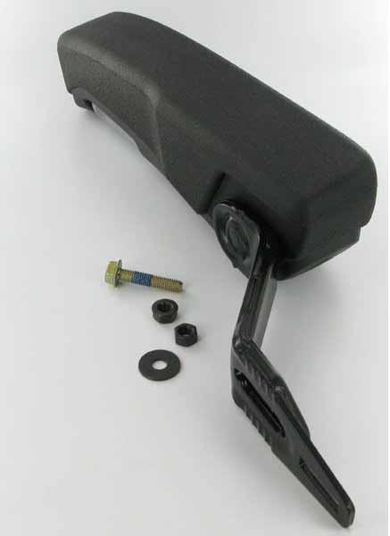 Opěrka loketní pro sedačky Grammer s nastavením sklonu pravá  60 x 320 mm