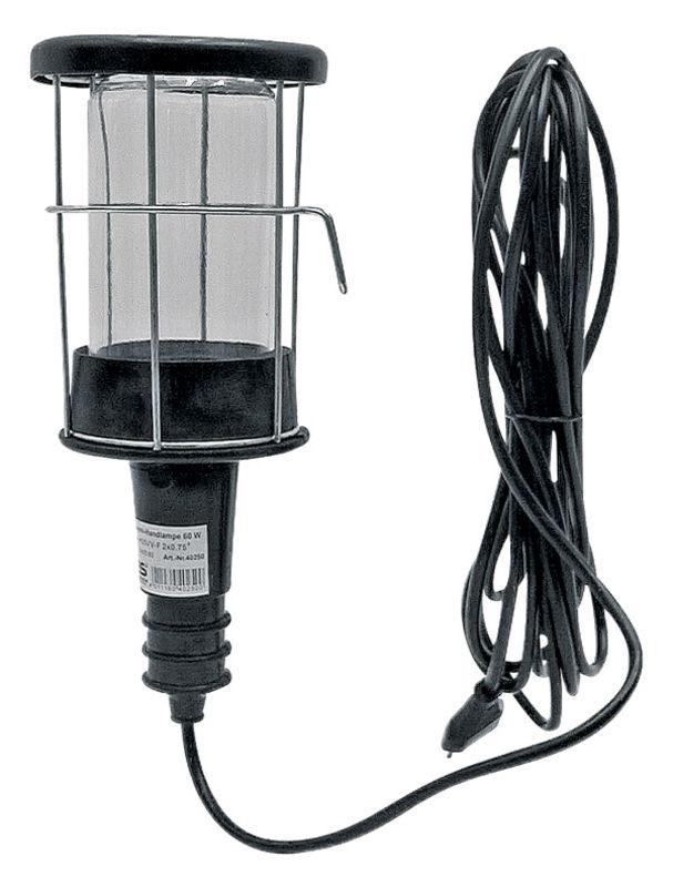 Dílenská lampa s ochranným košem