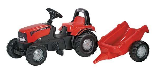 Rolly Toys - šlapací traktor Case s přívěsem modelová řada Rolly Kid
