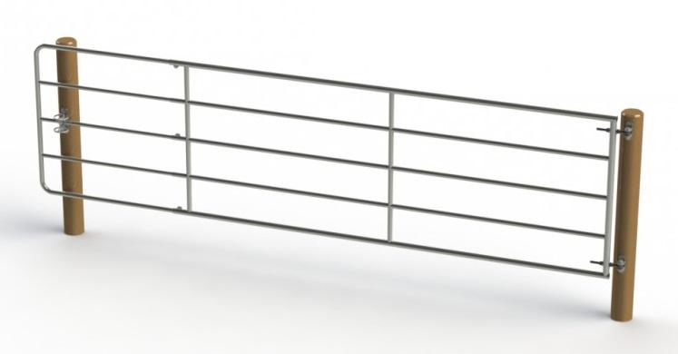 Kovová pastevní brána délkově stavitelná 1 až 1,7 m