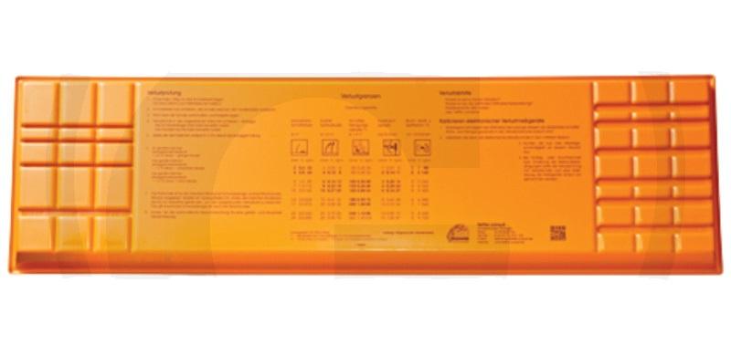 Kontrolní miska ztrát zrní s pracovní šířkou 7,5 - 10 m